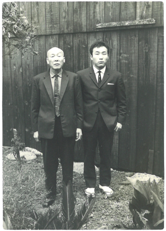 創業者と会長写真